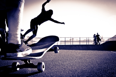 Skateboarding Park 版權商用圖片