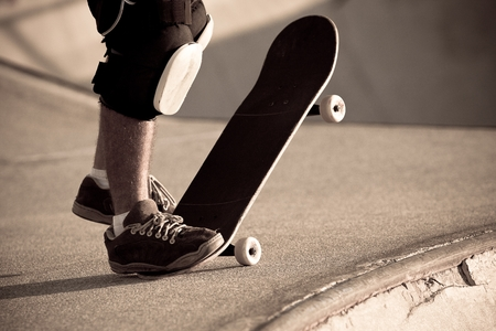 Sksteboarder in a Skate Park