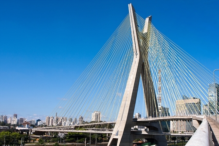 marginal: Cable-stayed bridge, Sao Paulo - Brazil