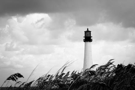 key biscayne: Key Biscayne lighthouse Miami Florida Stock Photo