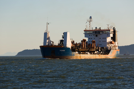 btp: Santos, Brazil, july 9 LELYSTAD dredger, arrived at the port of Santos on 0907 at around 17h20, Their services are running on the berth deepening the BTP Brazil Port Terminal, the new Container Terminal soon to be opened on July 9, 2015 in Santos, Brazil. Editorial