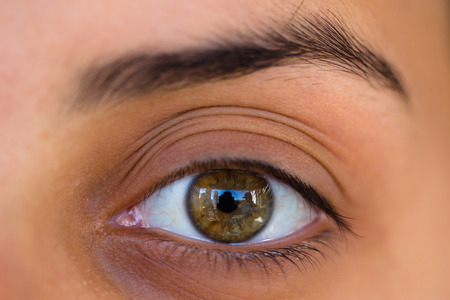 yeux: Oeil Femme photographi�e avec macro Banque d'images