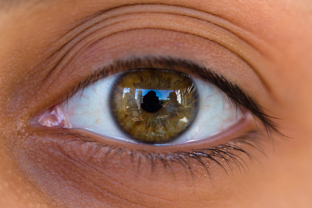 cornea: Female eye photographed with macro lens Stock Photo