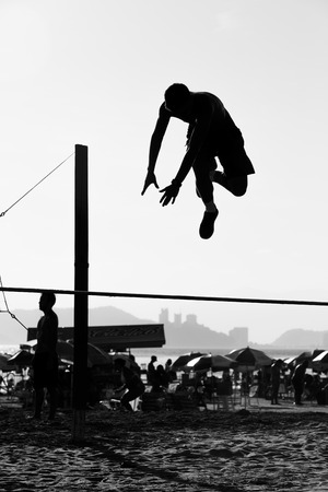 slacker: Brazilan boy playing slackline Stock Photo