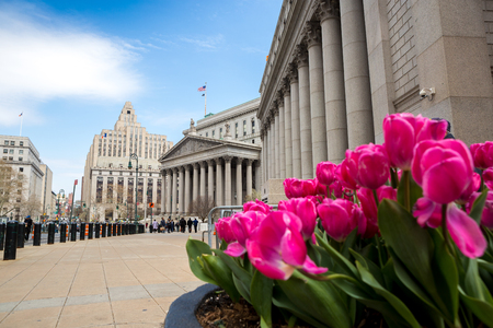 unified: The Supreme Court of the State of New York is the trial-level court of general jurisdiction in the New York State Unified Court System. Stock Photo