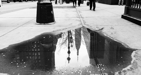 empire state building: Empire State Building photographed in a puddle.