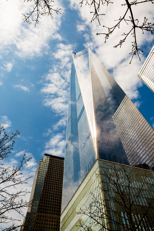 wtc: Manhattan, New York, April 11, 2016  One World Trade Center (also known as 1 World Trade Center, One WTC 1 and WTC, the current building was dubbed the Freedom Tower During initial basework) is the main building of the rebuilt World Trade Center complex