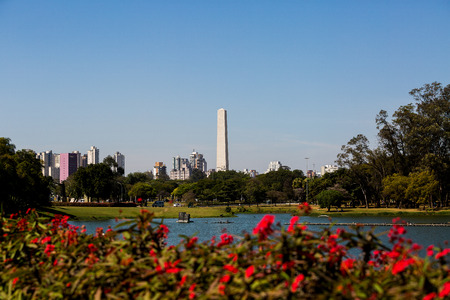 Obelisk of Sao Paulo, Ibirapuera Park, Brazil.
