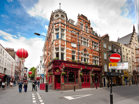 g spot: London, England. May 22, 2014. Chinatown is part of the City of Westminster, occupying the area in and around Gerrard Street.