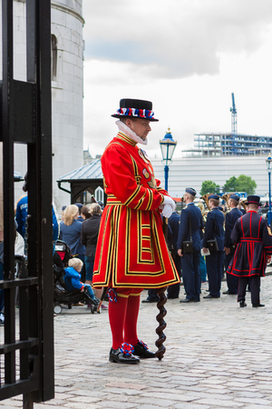 London, England. May 23, 2014. Yeoman of the Guard (Beefeaters) at the Tower of London