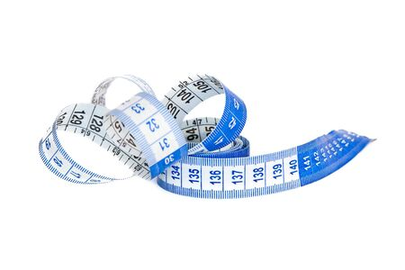 Tape-measure on white background.
