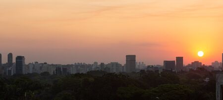 Sao Paulo skyline during sunset.