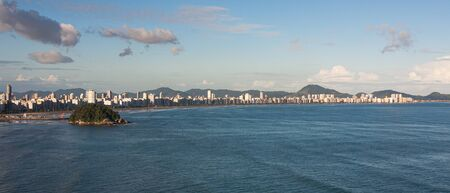 Panoramic of Santos city in a sunny day.