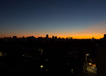 Sunset in the city of São Paulo during the spring