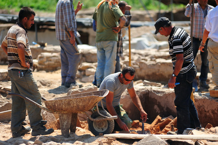 archaeologists: Ephesus,Turkey - Jun 30,2015:Archaeological site in Ephesus,Archaeologists are digging Heritage.