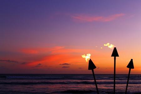 Sunset flames
