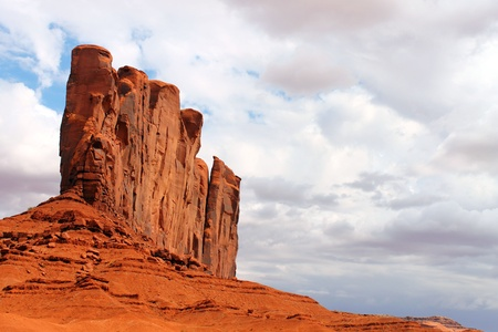 duality: Closer view with high contrast of a rock in the Monument Valley Stock Photo