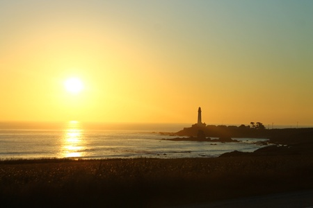 A sunset in the Half Moon Bay by San Francisco Stock Photo - 10988905