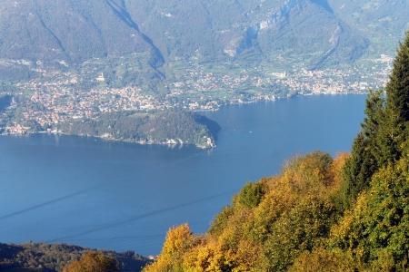colo: Villa Balbianello on Colo Lake taken from the mountains