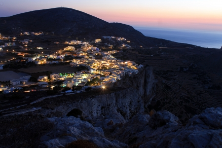 The lights on Folegandros in Cyclades islands photo