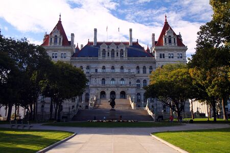 New York State Capitol building in Albany Stock Photo