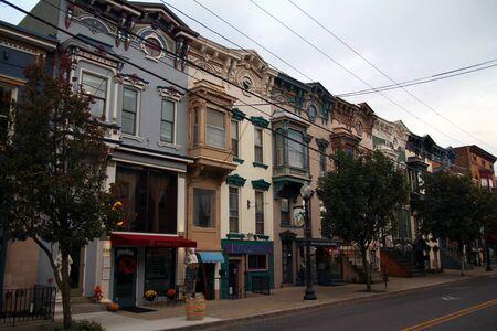 Lark street historic houses in Albany in New York