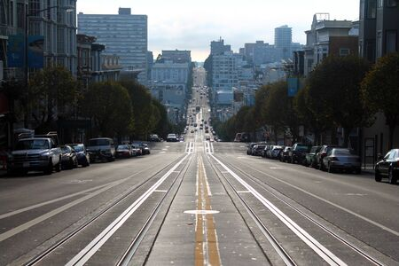 The streets of San Francisco in California