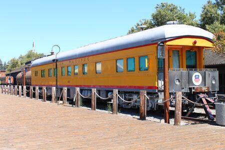 Union Pacific historic train in Sacramento in California