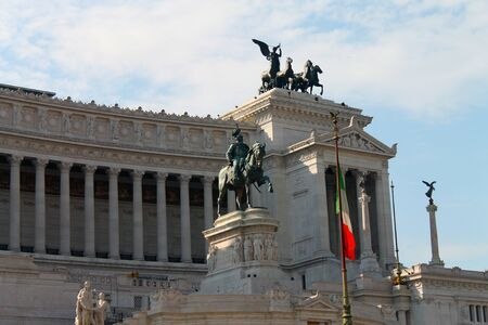 Vittoriano monument in Rome in Italy