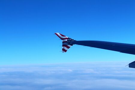 Stars and stripes on a plane wing