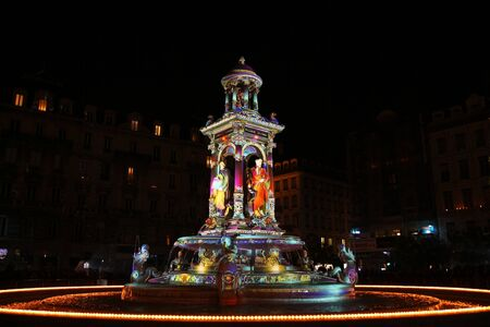 The lights on the Jacobin fountain Imagens