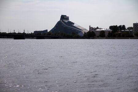 The impressive modern Riga library on the river