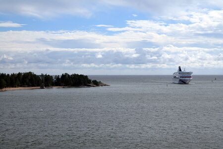 The cruise and the island in the Finnish sea