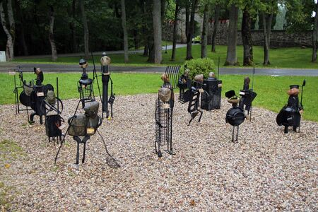 Iconic sculptures in the park of Sigulda Stock fotó