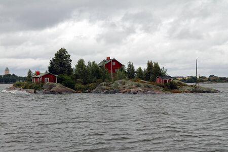 Finnish islands in the bay of Helsinki