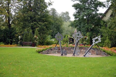 The three iron keys of Sigulda in Latvia