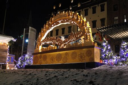 Alemand Christmas Market in Quebec in Canada