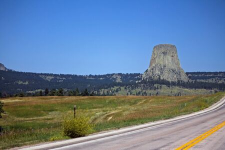 View of the Devil's tower in Wyoming Stock fotó