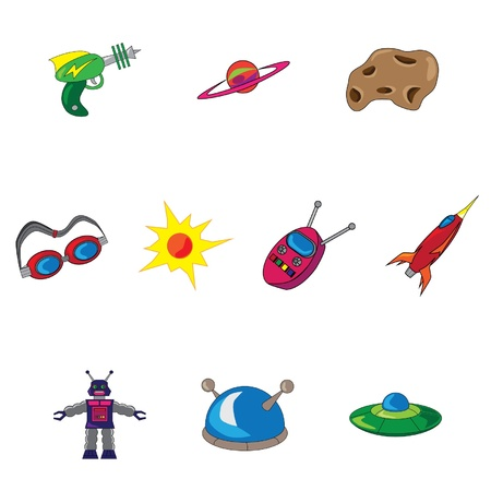 Retro Science Fiction Icons
