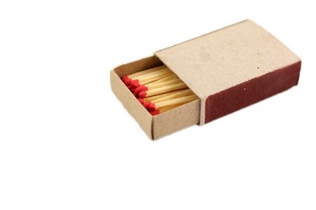 Box of matches isolated on white Stock Photo - 969561