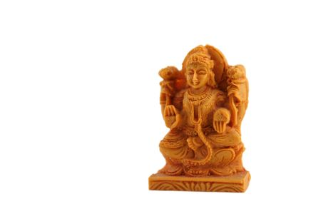Indian shiva statuette isolated on white Stock Photo - 969566