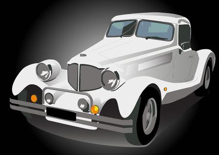 hooligan: Vector Illustration Wite Vintage retro Auto isoliert