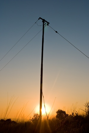 Pole in sunset