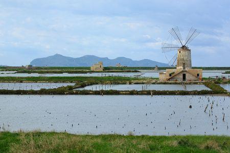 windmill in a salt mine Stock Photo - 5759501