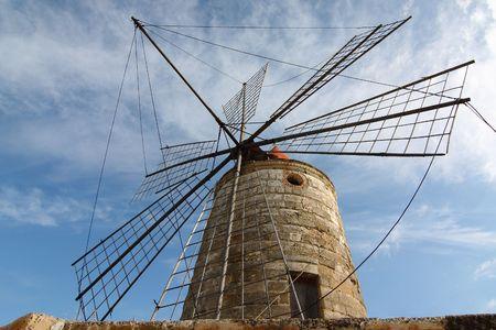 windmill in a salt mine photo
