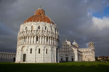 some details of miracoli square monuments in pisa photo