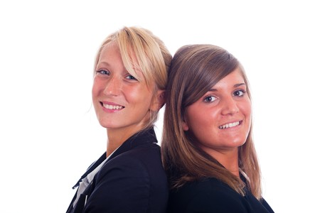 Portrait of Two Young and Nice Businesswoman photo