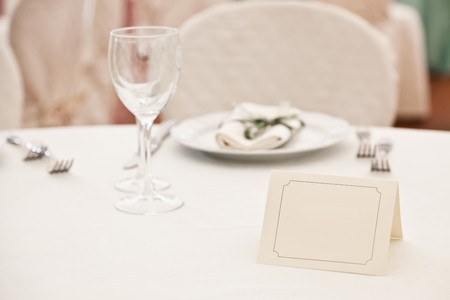booked: Booked Place in Elegant Restaurant Stock Photo