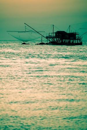 fishermans net: Fishermans Net Silhouette at Sunset