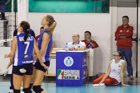 qualify: PISA, ITALY - OCTOBER, 31: Volleyball Italian Women A2 League, Chieri vs Biancoforno Santa Croce at PalaParenti on Oct 31 2010, Pisa, Italy